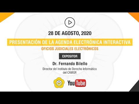 PRESENTACIÓN DE LA AGENDA ELECTRÓNICA INTERACTIVA - 28 de Agosto 2020