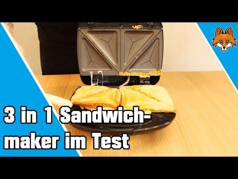 3 in 1 Sandwichmaker   Waffeleisen   Paninigrill im Test 🥪
