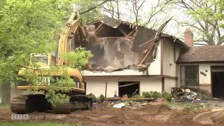 Old, Abandoned Home Demolished In Coon Rapids