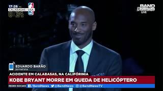 O astro do basquete americano Kobe Bryant morreu em um acidente de helicóptero aos 41 anos. A aeronave caiu na cidade de Calabaças, na Califórnia (EUA).