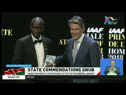 Marathon great, Eliud Kipchoge, left out of presidential awards
