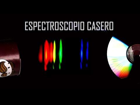 ESPECTROSCOPIO CASERO a CD (Como hacer, explicación y demostración)