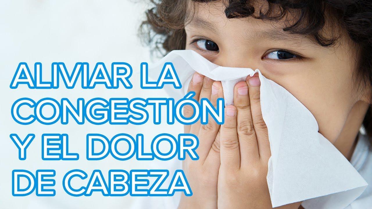 Masajes para aliviar la congestión nasal y el dolor de cabeza de los niños