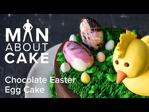 Video (man about) Chocolate Easter Egg Cake | Man About Cake with Joshua John Russell