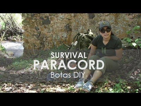 Truco de supervivencia con paracord o cuerda de escalada Calzado de emergencia