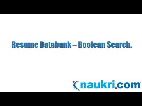 How to do Boolean search in Naukri's database - Naukri.com ...