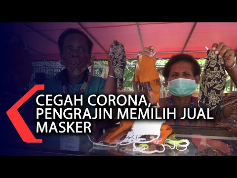 cegah corona pengrajin memilih jual masker