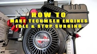 HOW TO Make Your Tecumseh SNOWKING Engine Idle & Stop Surging