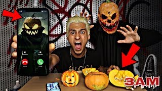 DO NOT CARVE PUMPKIN AT 3AM!! *OMG PUMPKIN MAN CALLED!! ME AND CAME TO MY HOUSE*