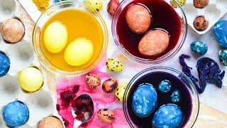 Окрашивание яиц капустой, свеклой, куркумой.Только натуральные красители!