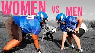 Men vs Women - Men Try Women's Tackle Football