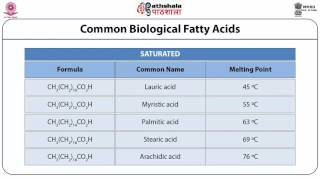 Saturated and unsaturated fatty acids, Nomenclature of fatty
