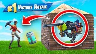 TROLLING Enemies with the Sentry Gun In Fortnite