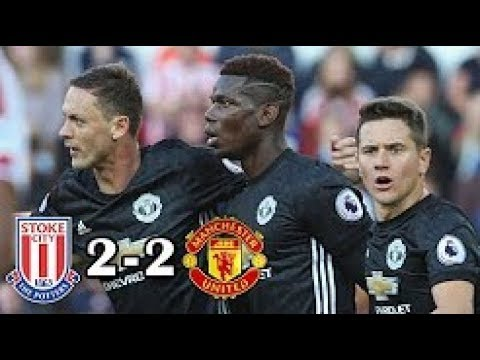 Stoke City Vs Manchester United 2-2 Highlights & Goals -Premier League 09 Sep 2017