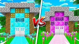 BOY vs GIRL MINECRAFT HOUSE BATTLE! (MCPE)