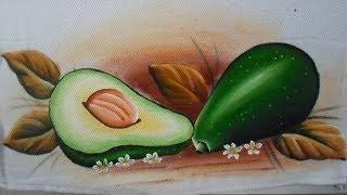Como pintar abacate fechado e aberto em tecido