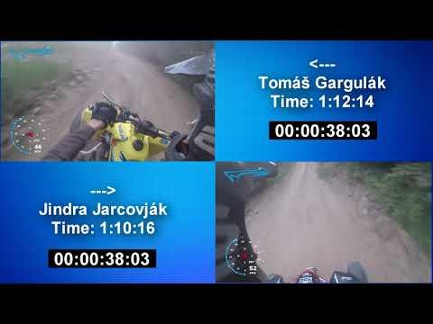 Trať Kašava - Tomáš Gargulák vs. Jindra Jarcovják