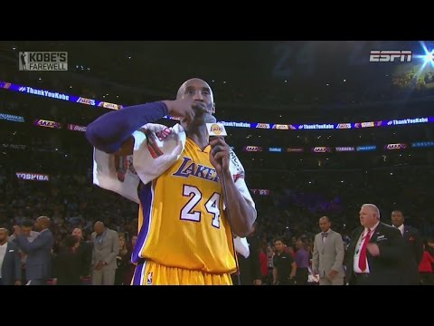 Kobe Bryant 60 Points in Final Game vs Utah Jazz - Full Highlights + Speech 13/04/2016