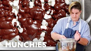 Chocolate, Pecans, and Marshmallows: Mississippi Mud Cake by Munchies