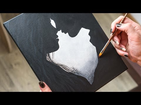 acrylic painting couple by homemade illustration
