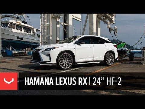"Lexus RX F-Sport | Hamana Japan | Vossen 24"" HF-2 Wheels"