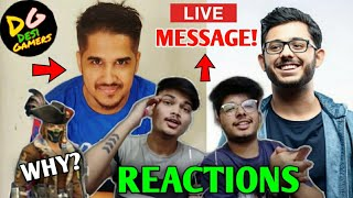 Raistar is BACK! Total Gaming reacts on CarryMinati | Two Side Gamer *LIVE* reaction!