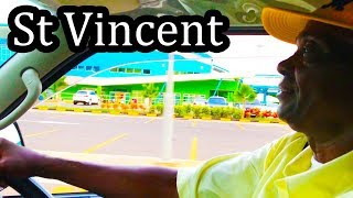 St Vincent - Caribbean Island - Taxi Ride from the Airport - Sept 2017