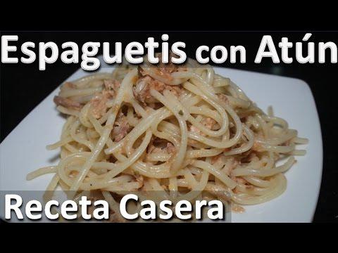 Como Hacer Espaguetis con atun receta casera - Recetas de espaguetis faciles