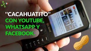 Alcatel 3078: un día con el CELULAR CACAHUATITO con WHATSAPP