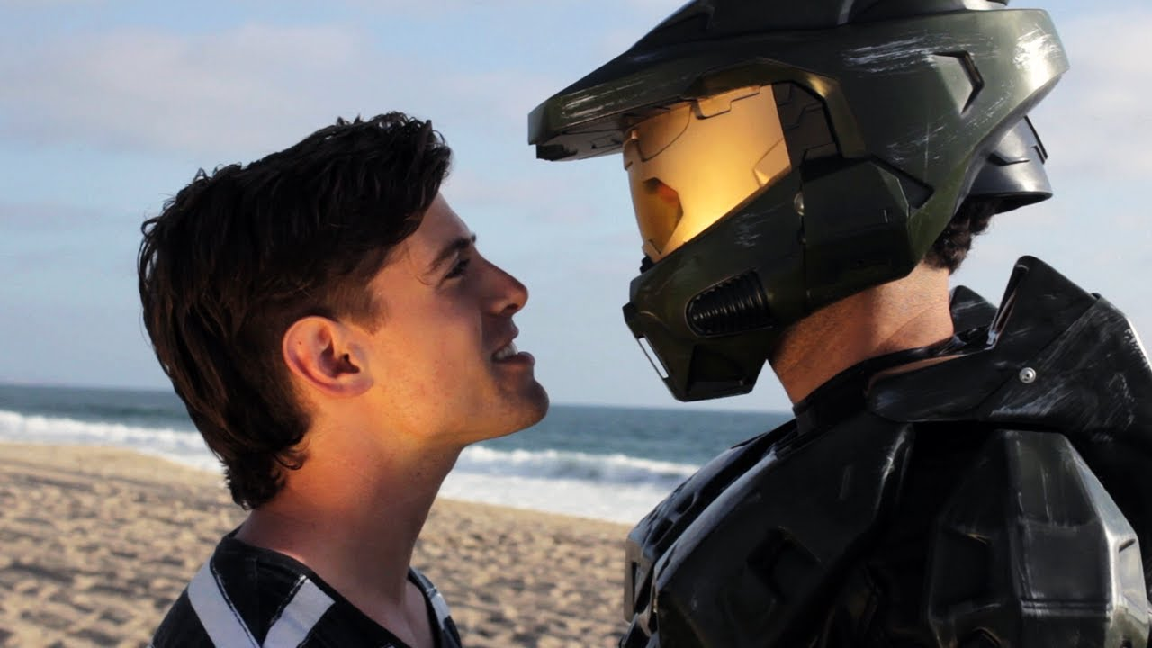 Boy-Band Tribute To Halo Writes Master Chief's Name All Over The Back Of A Notebook