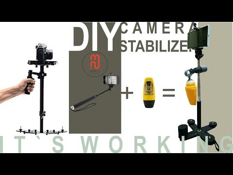 DIY CAMERA STABILIZER | Using Roll on & selfie stick (Not ads)