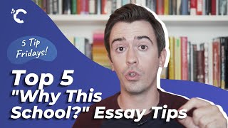 """youtube video thumbnail - 5 Tips for the """"Why This School?"""" Essay"""