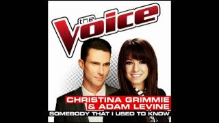 Christina Grimmie & Adam Levine   Somebody That I Used To Know   Studio Version   The Voice 2014