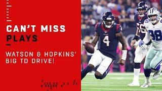 Hopkins & Watson Make Huge Plays on Texans TD Drive!