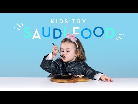 Kids Try Food from Saudi Arabia | Kids Try | HiHo Kids