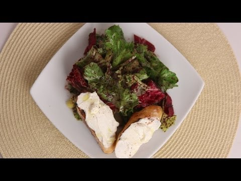 Winter Greens Salad w/ Ricotta Bruschetta – Laura Vitale – Laura in the Kitchen Episode 512