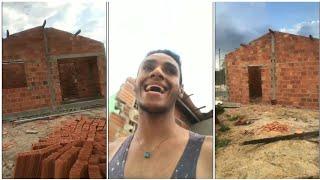 Ney Lima visita a obra da sua casa nova