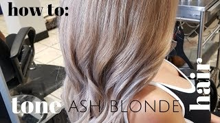 How To Tone ASH BLONDE Hair