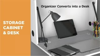 HMF-03 Wall-Mounted Drop Down Storage Cabinet & Desk Overview Video