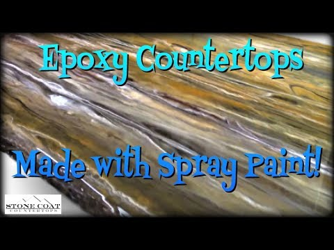 Epoxy Countertops Made with Spray Paint