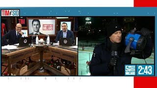 Tim and Sid: Five minutes with Millard who is freezing on location from Ottawa