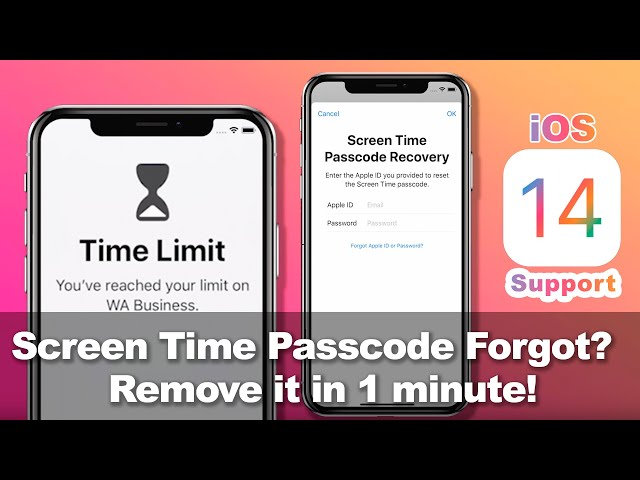 Screen Time Passcode Forgot? Remove it in 1minute! Works on iOS14,13,12 [iPhone,iPad,iPod Touch]