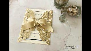 Glitter Wedding Invitation - Glamorous DIY Wedding Invitations In Gold