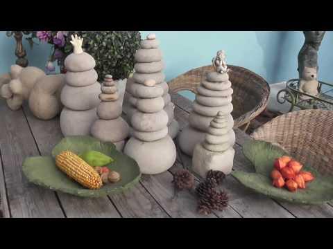 Gartenstehlen aus Zement und Strümpfen - Einfache Gartenkunst im Eigenbau