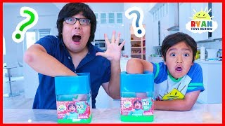 What's in the box Challenge Slime Edition with Ryan vs Daddy!!!!!