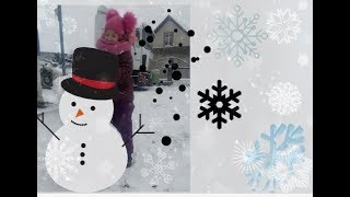 #снег Первый снег.снеговик своими руками.зима 2018.с первым снегом.белый снег.падает снег