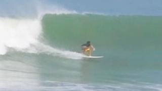 Surfing Hutchinson Island FL 10-4-2015 Hurricane Joaquin waves finally hit Florida