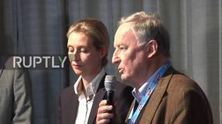 Germany: AfD's new top candidates praise outgoing Petry in victory press conference
