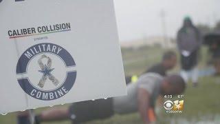 Caliber Collision Hosts Dallas Cowboys Military Combine Finals