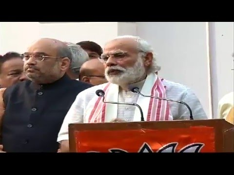 PM Modi thanks voters and party state units